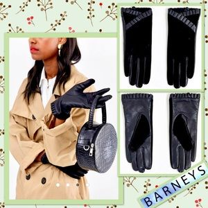 🌻 Barney's Originals Leather & Suede Gloves 🌻